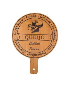 Tábua de Corte para Queijo Redonda Solecasa - Bambu