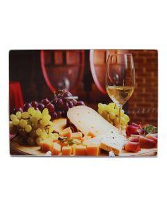 Tábua de Vidro Cheese Wine para Cortes 30x20cm - Yoi - DIVERSOS
