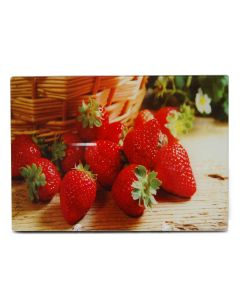Tábua de Vidro Strawberry para Cortes 30x20cm - Yoi - DIVERSOS