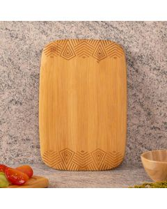 Tábua para Corte Estampada 23cm Finecasa - Bambu
