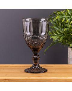 Taça de Vinho Bico Jaca 345ml Solecasa - Cinza