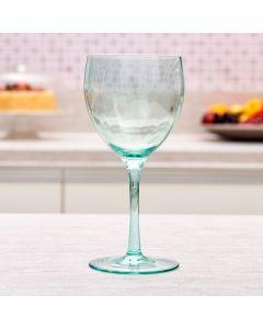 Taça de Vinho Trabalhada Criss 290ml Solecasa - Verde Claro