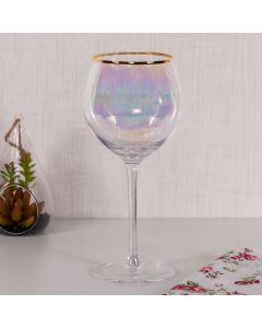 Taça para Água Mahal Dourado 480ml Havan - Vidro