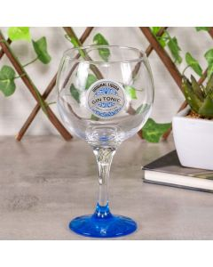 Taça para Gin Decorada 600ml Decormartin - Azul
