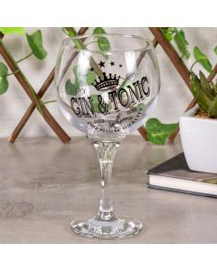 Taça para Gin Decorada 600ml Decormartin - Tonic