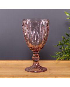 Taça para Vinho 320ml Diamante Solecasa - Rosa