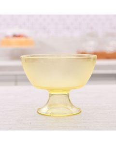 Taça Sobremesa Luna Cristal 300ml Martiplast - Amarelo