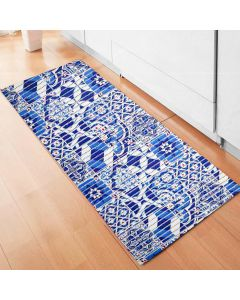 Tapete 43x1,30m Tropical para Cozinha Havan - Azul