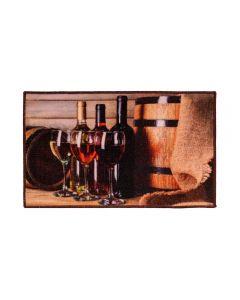 Tapete 45X75cm Veneza Para Cozinha Havan - Vinho