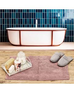 Tapete Arezo 45x70cm para Banheiro Havan - Rosa Antigo