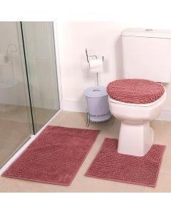 Tapete Banheiro 3PCS Dobby - Rose