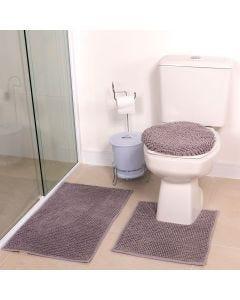 Tapete Banheiro 3PCS Dobby - Cinza