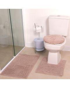 Tapete Banheiro 3PCS Dobby - Bege