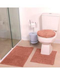 Tapete Banheiro 3PCS Dobby - Taupe