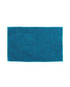 Tapete Dobby 45X70cm Para Banheiro Finecasa - Azul