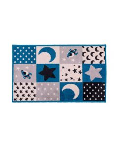 Tapete Funny 57X1,00M Para Quarto J Serrano - Stars Azul