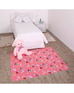Tapete Infantil Estampado 1,30x1,50m Havan - Rosa Claro