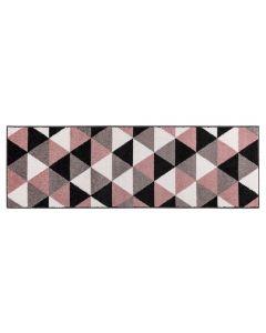Tapete Lotus 57Cm X 2,00M Havan - Triangulos Cinza e Rose