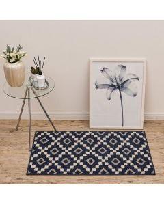 Tapete Lotus 57x1,00m para Quarto e Sala Havan - Geométrico Azul