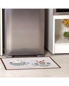 Tapete Napoli 50x70cm Antiderrapante para Cozinha - Filhotes e Xicaras