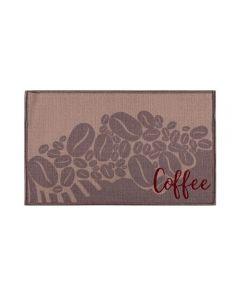 Tapete Napoli 50X70cm Antiderrapante Para Cozinha - Coffee
