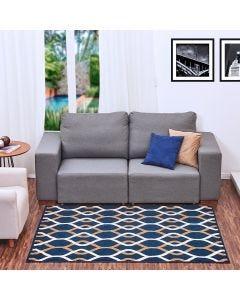 Tapete Renaissance 1,33x1,90m Quarto e Sala - Azul Escuro
