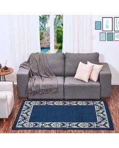 Tapete Renaissance 1,33x1,90m Quarto e Sala - Azul Marinho