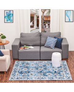 Tapete Renaux 1,40x1,90m Havan - Azul Céu