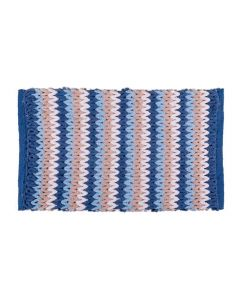 Tapete Tressé 45X75cm Havan - Azul Entrançado