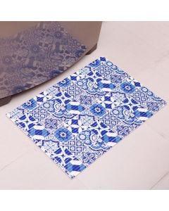 Tapete Tropical 43x65cm para Cozinha - Azul Ceu