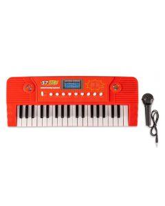 Teclado com Microfone Havan - HBR0092 - Vermelho