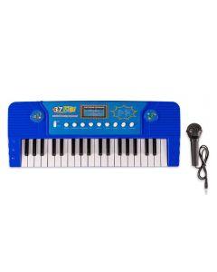 Teclado com Microfone Havan - HBR0092 - Azul