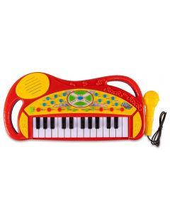 Teclado com Microfone Havan - HBR0095 - Vermelho