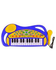 Teclado com Microfone Havan - HBR0095 - Azul