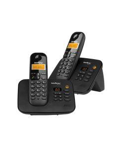 Telefone s/ Fio Secretária Eletrônica Intelbras TS3130 - Preto