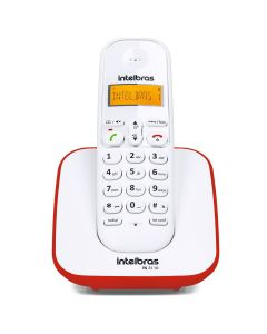 Telefone Sem Fio TS3110 Eco Mode Intelbras - Vermelho e Branco