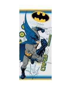 Toalha Banho Felpuda Batman Lepper - Branco