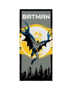 Toalha Banho Felpuda Batman Lepper - Preto