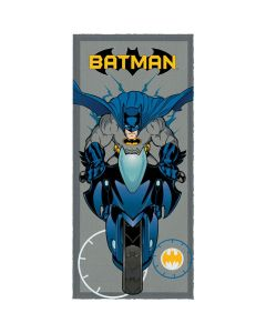 Toalha Banho Felpuda Batman Lepper - Cinza
