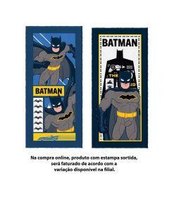 Toalha Banho Felpuda Batman Lepper - Sortido