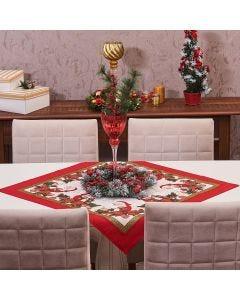 Toalha Centro de Mesa 78cm x 78cm Natal Karsten - Tempo de Sonhar