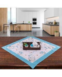 Toalha Centro de Mesa 78x78 Páscoa Karsten - Pascoa Azul