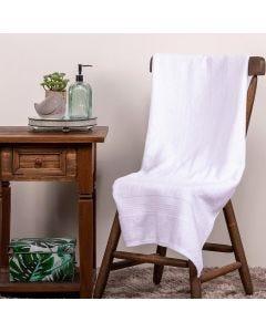 Toalha de Banho 70x140 Fio Penteado Canelado Buddemeyer - Branca