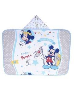 Toalha de Banho Bebê 70x90cm com Forro em Fralda Disney - Mickey