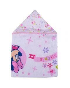 Toalha De Banho Bebê 70X90cm Com Forro Em Fralda Disney - Minnie
