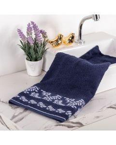 Toalha de Banho Flora - Azul Marinho