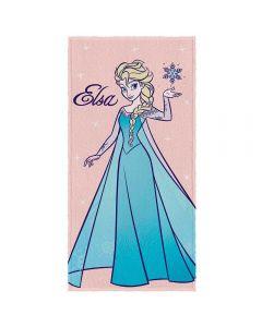 Toalha de Banho Frozen Felpuda Lepper - Elsa Rosa