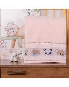 Toalha de Banho Infantil Cute Baby - Rose