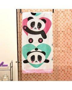 Toalha de Banho Infantil Estampada Lepper - Panda Menina