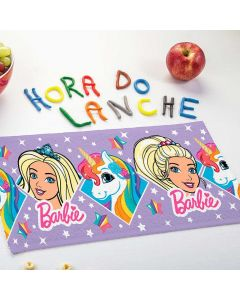 Toalha de Lancheira Personagens Estampada Lepper - Barbie Reinos Magicos